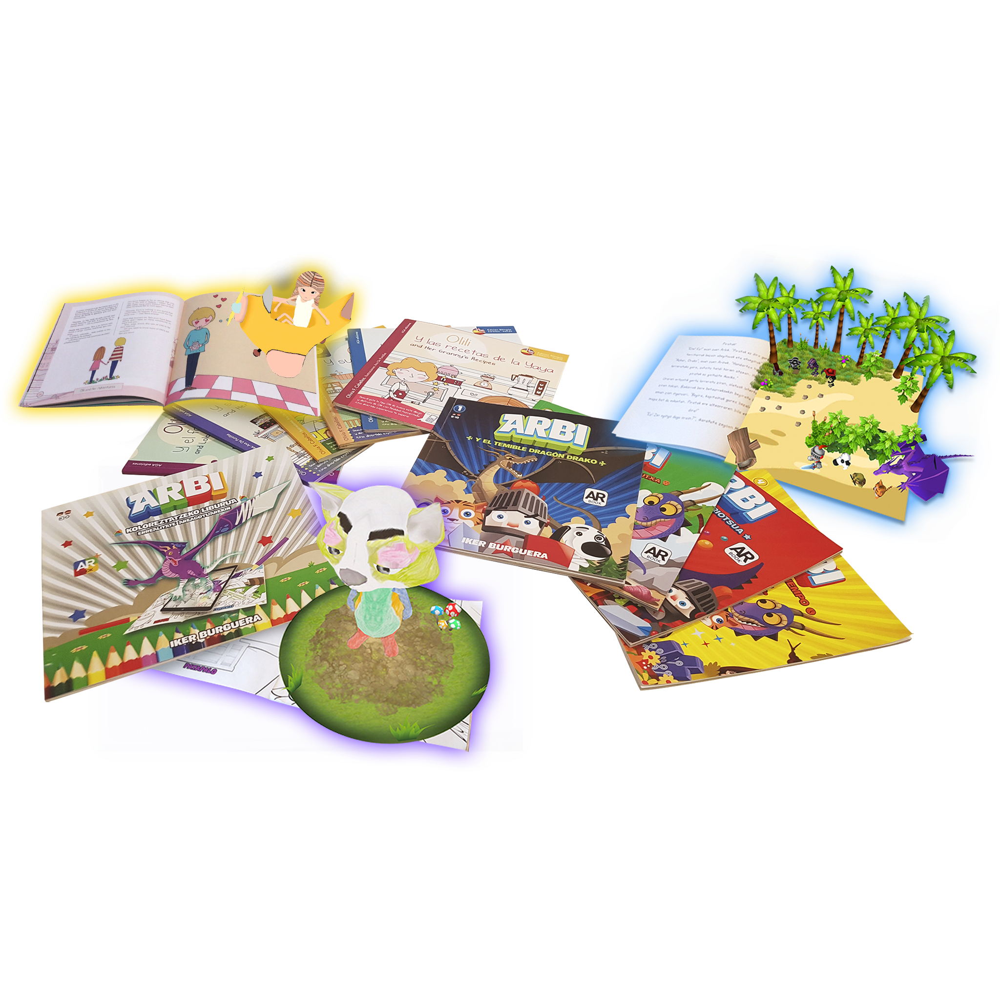 libros educativos realidad aumentada arbi